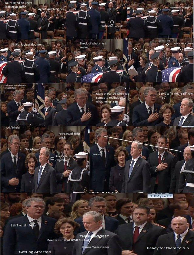 bush funeral surprise montage